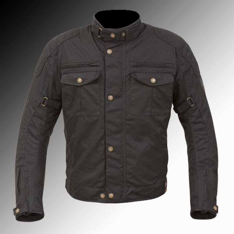 Merlin Heritage Barton Wax Jacket Black at Chas Mann Motorcycles
