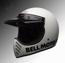 Bell Moto3 helmet white at Chas Mann Motorcycles