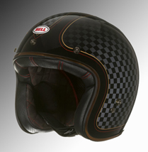 Bell classic custom helmet chequered at Chas Mann Motorcycles