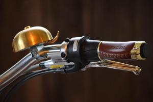 Italjet electric bike handle bar and bell at Chas Mann Motorcycles