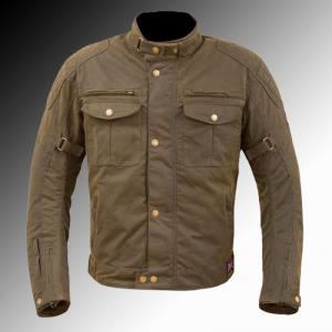 Merlin Heritage Barton Wax Jacket Olive Brown at Chas Mann Motorcycles