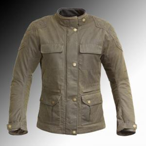 Merlin Heritage Buxton Wax Jacket Olive Brown Ladys at Chas Mann Motorcycles
