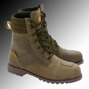 Merlin Heritage Drax brown motorcycle boots at Chas Mann Motorcycles Superlight Centre