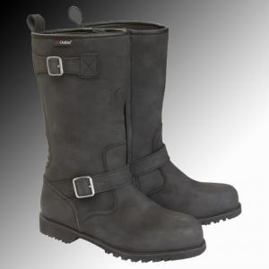 Merlin Heritage Legacy motorcycle boot black at Chas Mann motorcycles Superlight Centre