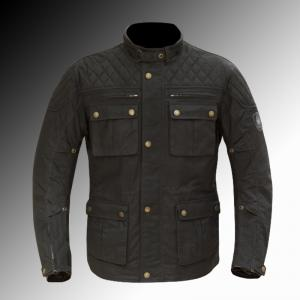 Merlin Heritage Yoxall wax jacket black at Chas Mann Motorcycles Superlight Centre