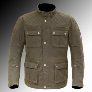 Merlin Heritage Yoxall wax jacket brown olive at Chas Mann Motorcycles Superlight Centre