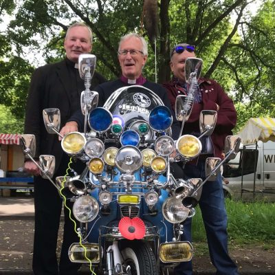 The Vicar, Bishop & Andy - Lambretta