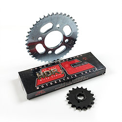 Drive Chain and sprocket set for Keeway Superlight at Chas Mann Superlight Centre