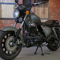 Keeway Superlight 125 satin green at Chas Mann Motorcycles (3)